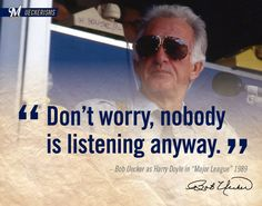 """Don't worry, nobody is listening anyway."" #UECKER #BREWERS"