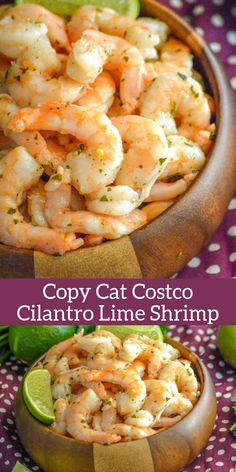 Copy Cat Costco Cilantro Lime Shrimp An easy appetizer recipe is always a must have. This Copy Cat Costco Cilantro Lime Shrimp makes it so you can whip up your favorite store bought appetizer, in a pinch, without ever leaving the comfort of your own home. Seafood Appetizers, Easy Appetizer Recipes, Seafood Dishes, Seafood Recipes, Cooking Recipes, Healthy Recipes, Costco Recipes, Freezer Cooking, Freezer Meals