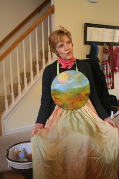 Miss Carolyn's beautiful story apron for lap puppet shows. http://www.fairytalesandpuppets.com/