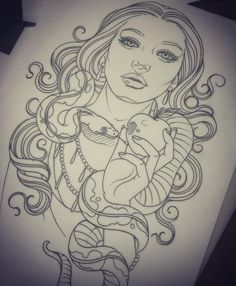 Tattoo Girl Face Traditional Ideas - Tattoo Girl Face Traditional Id . Tattoo Girls, Tattoo Designs For Girls, Girl Tattoos, Tatoos, Lion Tattoo, Cat Tattoo, Girl Face Drawing, Girl Drawings, Drawing Stuff
