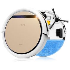 ILIFE 2 in 1 Smart Robot Vacuum Cleaner V5S Wet and Dry Clean MOP Water Tank HEPA Filter,Ciff Sensor,Self Charge ROBOT ASPIRADOR