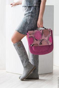 Hand felted bag / Женские сумки ручной работы. Заказать Портфель валяный…