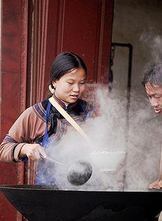 the art of cooking, Yuanyang, China