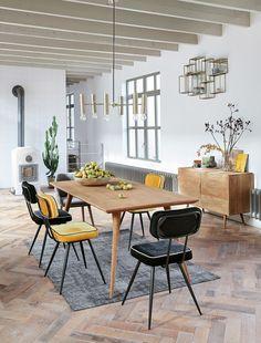 Massief mangohouten buffetkast met 1 deurtje en 3 laden Trocadero   Maisons du Monde