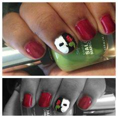 Phantom of the Opera inspired nail design