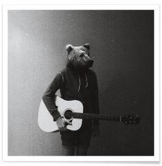 JUNIQUE Animals in my room - Bear als Premium Poster
