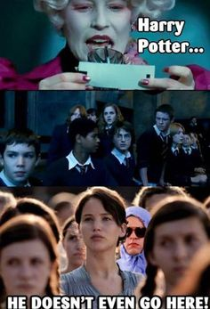 Those Mean Harry Potter Hunger Girls Games always start this way!!