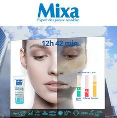 MIXA, Cosmetic Campagne 360, digitale virale et évènementielle. En team avec la conceptrice Esther Maarek. Pour l'agence Les Gaulois Esther, Pores, Movie Posters, Art Director, Sensitive Skin, Rural Area, Film Poster, Billboard, Film Posters
