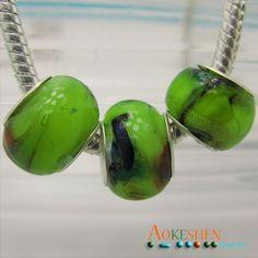 $1.39  Light Green Lampwork Murano Glass Beads Silver Spacer Fit Bracelet http://www.eozy.com/light-green-lampwork-murano-glass-beads-silver-spacer-fit-bracelet