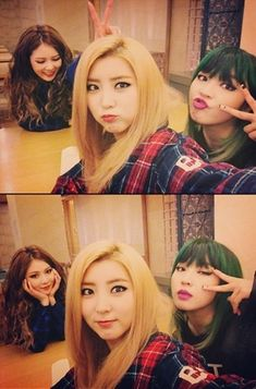 Girl group members HyunA, Kwon Sohyun, and Jeon Jiyoon revealed cute selfies together. Exo, Sehun, 2ne1, Kpop Girl Groups, Korean Girl Groups, Kpop Girls, Mamamoo, Super Junior, Shinee