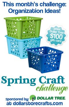 DollarStoreCrafts Spring Challenge: Organization Ideas