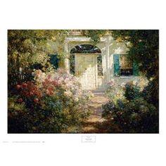 ''Doorway and Garden'' by Abbott Fuller Graves Garden Art Print