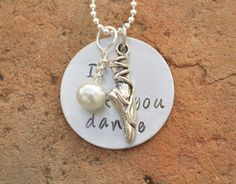 Perfect Christmas gifts for the girls! I hope you dance hand stamped necklace by brandedheart on Etsy