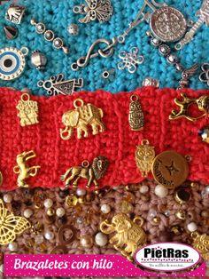 ¿Ya viste estas ideas buenísimas para tus brazaletes? en PietRas contamos con todo lo que necesitas