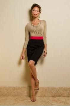 Colorblock Knit Dress..