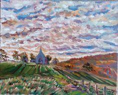 Original Oil Painting Landscape Countryside от JennyYaoCanvas