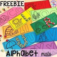Alphabet Letter Mats - Build and Write! - Pocket of Preschool