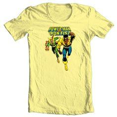 Power-Man-Iron-Fist-T-shirt-retro-Marvel-superhero-Luke-Cage-graphic-printed-tee