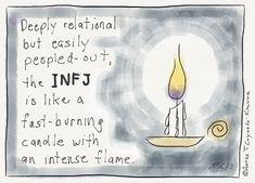Aaron Caycedo-Kimura, the illustrator behind INFJoe Cartoons, says he created the series to help other INFJs not feel so alone.
