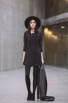 Zara Jumper, Silence & Noise  Wide Brimmed Hat, Zara Suede Booties, Zara Masculine Overcoat