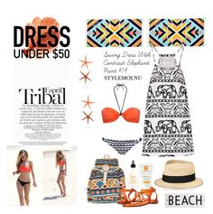 """beach"" by bmaroso ❤ liked on Polyvore"