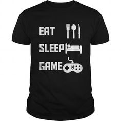 Awesome Tee Eat Sleep Game Video Games Shirts & Tees