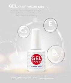 ESN Gel Me Bazinis gelinio lako sluoksnis Vitamin Base Nail Plate, Soak Off Gel, Glass Of Milk, Vitamins, Base, Plates, Canning, Drinks, Licence Plates