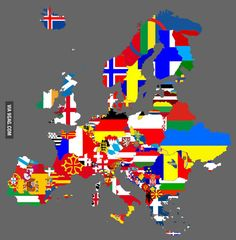 Map of Europe if all separatist movements were successful.
