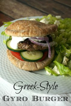 These gyro burgers are bursting with so much authentic gyro flavor that you may opt for no toppings at all. Absolutely delicious!