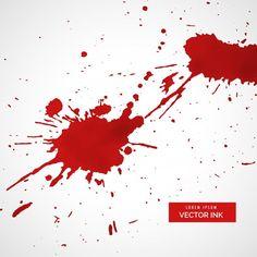 Red ink splatter vector Free Vector