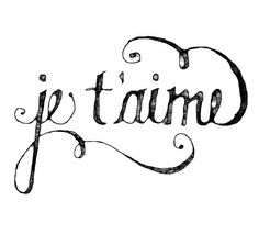 """Meaning """"I Love You"""" in French, I think this is it with 3 doves flying around it! LOVE!!"""