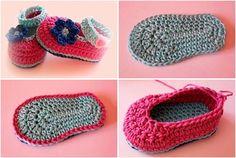 Si tienes un bebé en la familia no dudes en hacerte estos zapatitos. ¡Son perfectos!