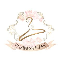 Flowers Shop Logo Pink 62 Ideas For 2019 Clothing Logo Design, Fashion Logo Design, Custom Logo Design, Custom Logos, Hanger Logo, Fond Design, Diy Design, Restaurant Logo, Boutique Logo