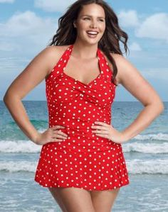 Cute and modest swimsuit from Just My Size (plus size). This is so much better covering than a bikini! I actually like these better!!