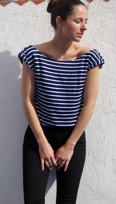 Sirocco top - love the shoulder detail. French pattern company