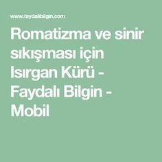 Romatizma ve sinir sıkışması için Isırgan Kürü - Faydalı Bilgin - Mobil