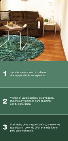 ¿Quieres complementar la decoración de tu hogar con una nueva alfombra en la sala? Aquí te dejamos 3 tips para escoger la correcta>
