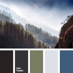Solid, severe composition with deep and serious colors. Such a color gamma will be to the taste of serious men with Nordic character. Sentiments and emotio Green Color Schemes, Living Room Color Schemes, Green Colors, Color Combinations, Forest Color, Dark Forest, Color Balance, Balance Design, Colour Pallette