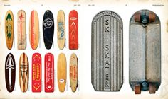 vintage, skate, deck, design