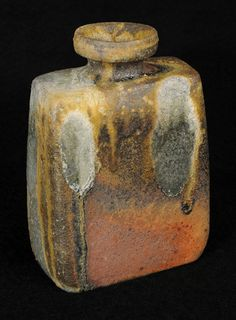 "ReikoCohen  |  ""Vase20"".  Wood-fired ceramic (4""w x 2""d x 6.5""h)."