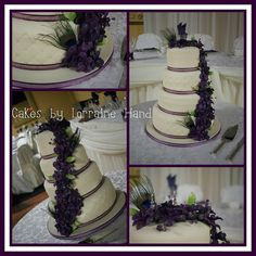My latest wedding cake #orchid #fondant #wedding