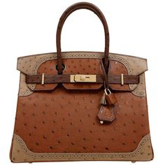 4ac489830945 View this item and discover similar top handle bags for sale at - The  authentic Hermes tri color ostrich ghillies birkin bag is in mint condition.
