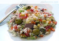 Ensalada arroz // Rice salad recipe in spanish Healthy Cooking, Healthy Eating, Cooking Recipes, Rice Salad Recipes, Avocado Pasta, Vegetarian Recipes, Healthy Recipes, Home Food, Summer Recipes