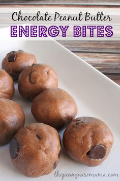Chocolate Peanut Butter Energy Bites - packed full of protein and low in sugar