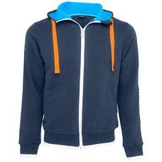 KLM men's zipped hoodie L