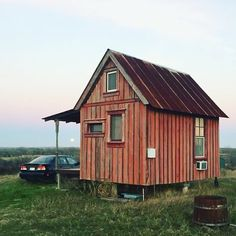 A Prime Example Of Using Reclaimed Wood A Brad Kittel Tiny Texas House.  #tinyhouseblog