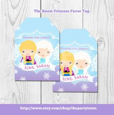 Frozen Favor tags personalized , Frozen Gift tags, Frozen Sticker tags, frozen favor tag, Thank you tags, digital gift tags, printable DIY