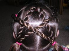 4th of July Hair - video on page shows how to add glowsticks to make it light up!