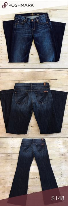 💙7 for all mankind flare jeans 7 for all mankind flare jeans. Dojo size 26. Inseam is about 32 inches. 7 For All Mankind Jeans Flare & Wide Leg