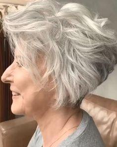 Short Hair Over 60, Funky Short Hair, Short Grey Hair, Short Hair Older Women, Haircut For Older Women, Short Hair With Layers, Short Hair Cuts For Women Over 50, Short Silver Hair, Short Textured Hair